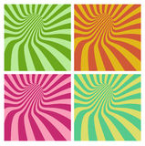 Tunnel vortex in multiple color stripe pattern Stock Image