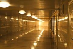 Tunnel  walkway subway station corridor Royalty Free Stock Images