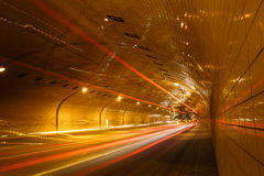 Tunnel in Warsaw Stock Photography