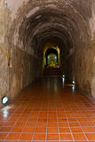 Tunnel in Wat Umong Royalty Free Stock Image
