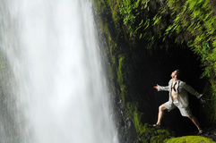 Tunnel Water Falls In Oregon Stock Photos