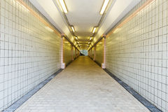 Tunnel of underground crossing at Fort Canning Park, Singapore Royalty Free Stock Photo