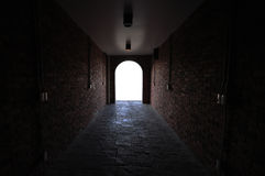 The tunnel is white light royalty free stock image
