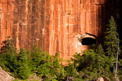 The tunnel window at Zion National Park in Utah Stock Photos