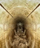 Tunnel. World War II bunker tunnel Stock Image