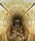 Tunnel. World War II bunker tunnel stock image
