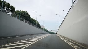 Tunnel zonder auto's stock afbeelding