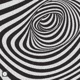Tunnel Zwart-witte abstracte gestreepte achtergrond pointillism stock illustratie