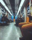 Tunnelbana - tunnelbana Fotografering för Bildbyråer