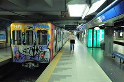 Tunnelbana av Buenos Aires. Arkivbild