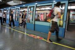 Tunnelbana av Santiago Arkivbild