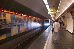 Tunnelbana Budapest för gångtunnelstation royaltyfri fotografi