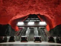 Tunnelbana di Stoccolma fotografia stock libera da diritti