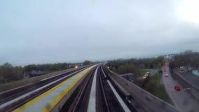 Tunnelbana eller drev i New York stock video
