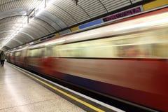 tunnelbana för london stationsdrev Arkivfoto