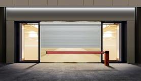 tunnelbana för parkering för färgcontrasteffekt Arkivbild