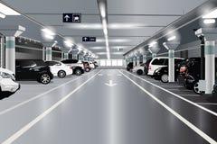 tunnelbana för parkering för färgcontrasteffekt Fotografering för Bildbyråer