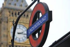 Tunnelbana i London, Förenade kungariket arkivbild