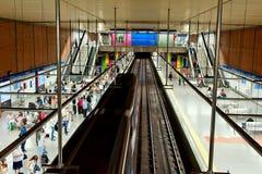 Tunnelbana i madrid Royaltyfri Bild