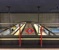 Tunnelbana i madrid Arkivfoton