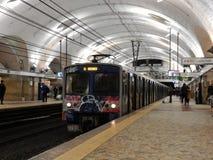 Tunnelbana i Rome ändstationer Royaltyfria Foton