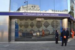 Tunnelbana London för Tottenham domstolväg Arkivfoton
