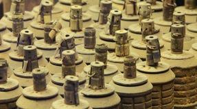 Tunnelbana som gräver ut ur granater Arkivfoto