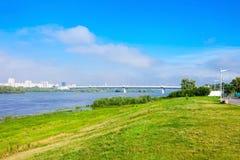 Tunnelbanabro i Omsk arkivfoton