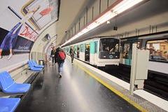 Tunnelbanadrev i Paris, Frankrike Royaltyfri Bild