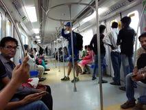 Tunnelbanajärnväg Royaltyfri Fotografi
