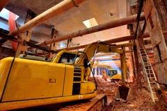 Tunnelbanakonstruktionstunnelbana Royaltyfri Fotografi