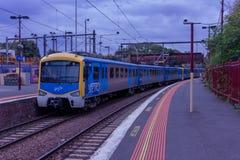 Tunnelbanan utbildar Melbourne Arkivfoton