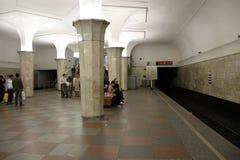 Tunnelbanastation Arkivbild