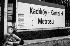 Tunnelbanastation av Kadikoy - Kartal, Istanbul, Turkiet Arkivfoto