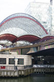 Tunnelbanastation Canary Wharf Royaltyfria Bilder