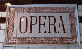 Tunnelbanastation från opera i Budapest arkivfoton
