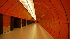 Tunnelbanastation i Munich Royaltyfria Bilder