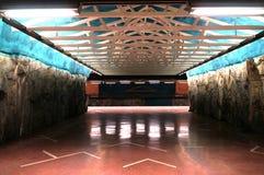 Tunnelbanastation i Sverige Royaltyfri Bild