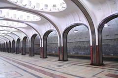 Tunnelbanastation Mayakovskaya Arkivbild