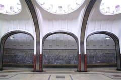 Tunnelbanastation Mayakovskaya Fotografering för Bildbyråer