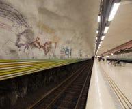 Tunnelbanastation Stockholm sweden 08 11 2015 Royaltyfri Foto