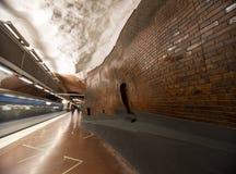 Tunnelbanastation Stockholm sweden 08 11 2015 Arkivbilder