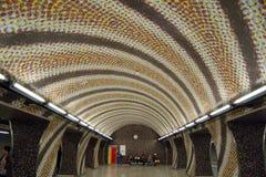 Tunnelbanastopp i Budapest Royaltyfria Bilder