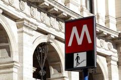 Tunnelbanatecken Fotografering för Bildbyråer