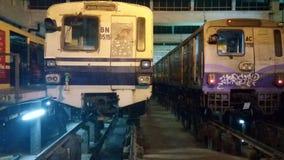 tunnelbanavagn Arkivbild