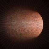 Tunnelen eller avloppsnätet, ljuset på slutet av tunnelen Royaltyfri Bild