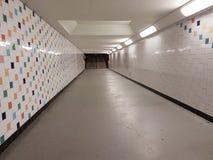 Tunnelen på stationen går Royaltyfri Fotografi