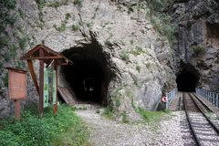tunneler tv? arkivfoto