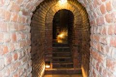 Tunneler under marknaden av Sandomierz, Polen Arkivbild