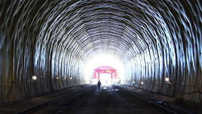 Tunneling. People in a tunnel. Building site stock video footage